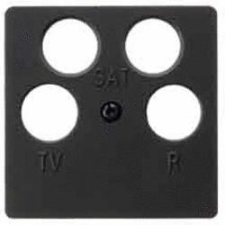 Berker Zentralplatte für Antennen-Steckdose 4Loch (14841606)