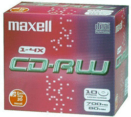 Maxell CD-RW 700MB 80min 4x 10er Jewelcase