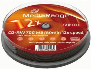 MediaRange CD-RW 700MB 80min 12x 10er Spindel