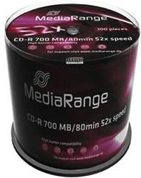 MediaRange CD-R 700MB 80min 52x 100er Spindel