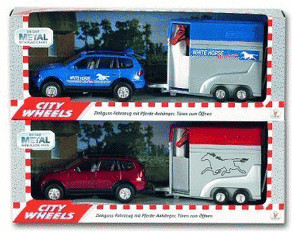 The Toy Company City Wheels - Auto mit Pferdean...
