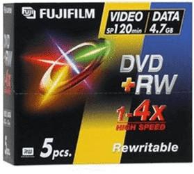 Image of Fuji Magnetics DVD+RW 4,7GB 120min 4x 5pk Jewel Case