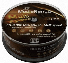 MediaRange CD-R 800MB 90min Multispeed 25er Spi...