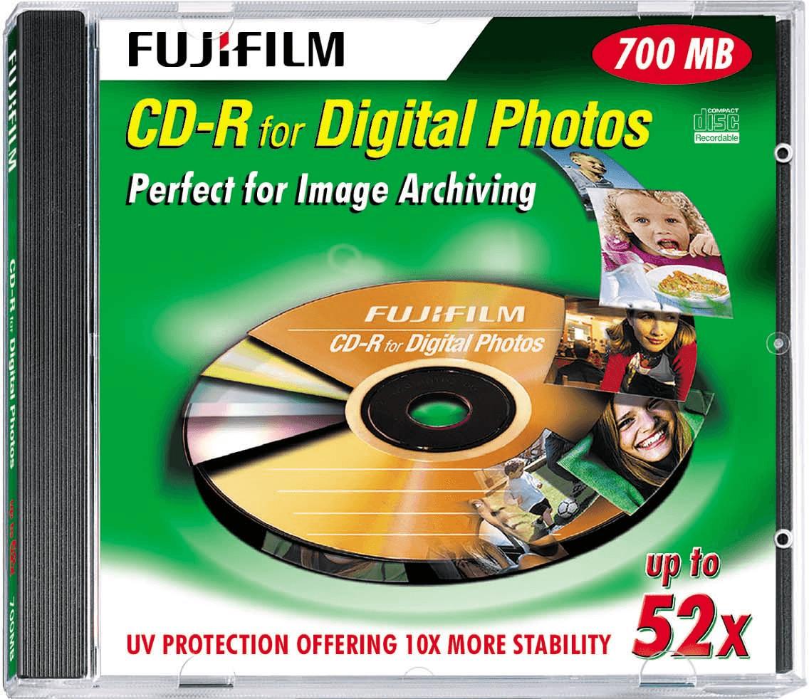 Image of Fuji Magnetics CD-R 700MB 80min 52x Digital Photos 10pk Jewel Case