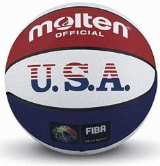 Molten Basketball Trainingsball USA Outdoor Streetbasketball Amerika weiß Gr. 7