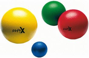 softX Schaumstoff-Ball 16 cm mit Haut