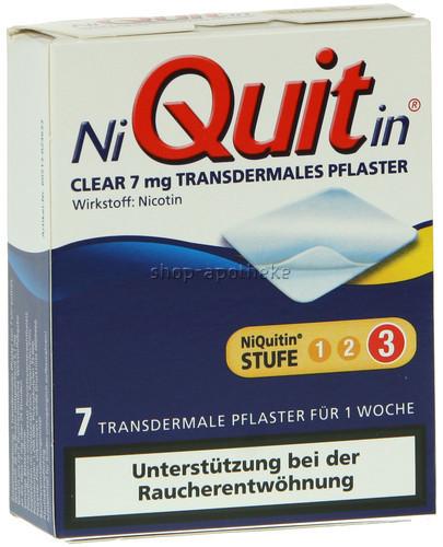 Niquitin Clear 7 mg Pflaster (7 Stk.)