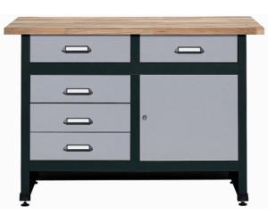 k pper werkbank 120 cm 1 t r 5 schubladen 1204 ab. Black Bedroom Furniture Sets. Home Design Ideas