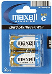 Image of Maxell 2x C / LR14 Alkaline Ace