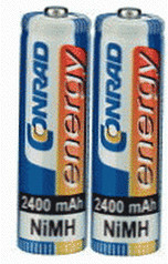 Image of Conrad Energy 2x AA Accu 2400mAh