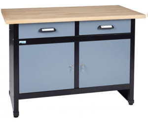 k pper werkbank 120 cm 2 t ren 2 schubladen 1205 ab 199 00 preisvergleich bei. Black Bedroom Furniture Sets. Home Design Ideas