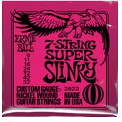 Image of ERNIE BALL 7-string Super Slinky Nickel Wound .009 - .052 Pink pack
