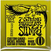 Image of ERNIE BALL 7-string Regular Slinky Nickel Wound .010 - .056 Lime Green pack