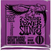 Image of ERNIE BALL 7-string Power Slinky Nickel Wound .011 - .058 Purple pack