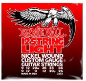 Image of ERNIE BALL 12-string Light Nickel Wound Electric .009 - .046