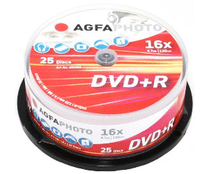 Image of AgfaPhoto DVD+R 4,7GB 120min 16x 25pk Spindle