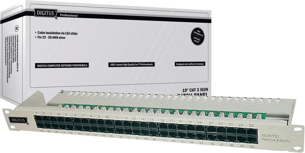 Digitus 19´´ Patch Panel 50 Port Cat. 3 ISDN