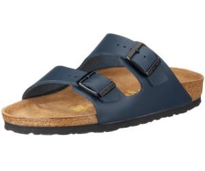 BIRKENSTOCK Arizona Leder Softfootbed, Unisex-Erwachsene Pantoletten, Blau (Blue), 45 EU