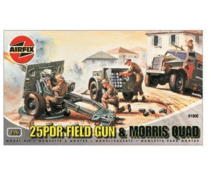Image of Airfix 25PDR Field Gun & Morris Quad Series 1 (01305)