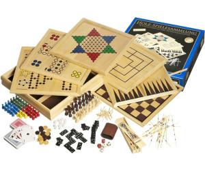 Mehrfarbig Spielesammlung 9 in 1 Klassische Gesellschaftsspiele aus Holz