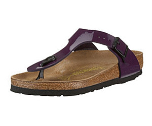 8930accf6d9 Buy Birkenstock Gizeh Birko-Flor Patent plum from £92.95 – Compare ...