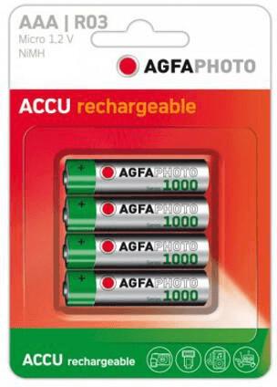 Image of AgfaPhoto 2x AAA 1000 / HR03 Accu