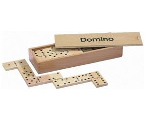 28 Spielesteine Domino Buche groß