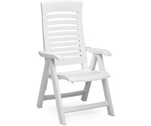 Kettler Nizza Weiß Gartenstuhl Klappstuhl Klappsessel Stuhl Multipositionssessel