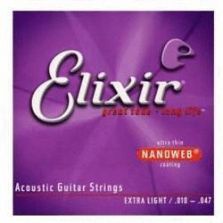 Image of Elixir Strings 80/20 Bronze Nanoweb Extra Light