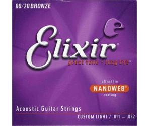 3 Satz Elixir Nanoweb 11-52 Phosphor Bronze Gitarren Saiten 3er Pack