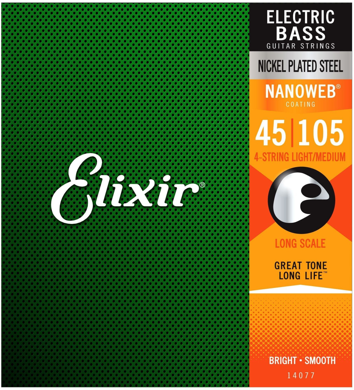 Image of Elixir Strings Nickel Nanoweb 4-String Light/Medium Long Scale