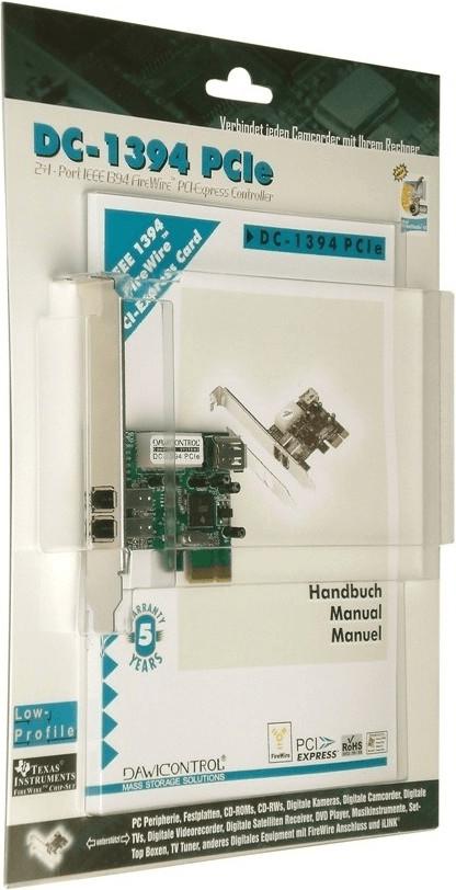 Image of Dawicontrol DC-1394 PCIe (3-Port FireWire 400)