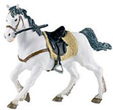 Papo Weißes Pferd mit Sattel (51035)