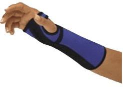 Bort Arm- und Handgelenkstütze mit Alu-Schiene rechts blau/schwarz Gr.M