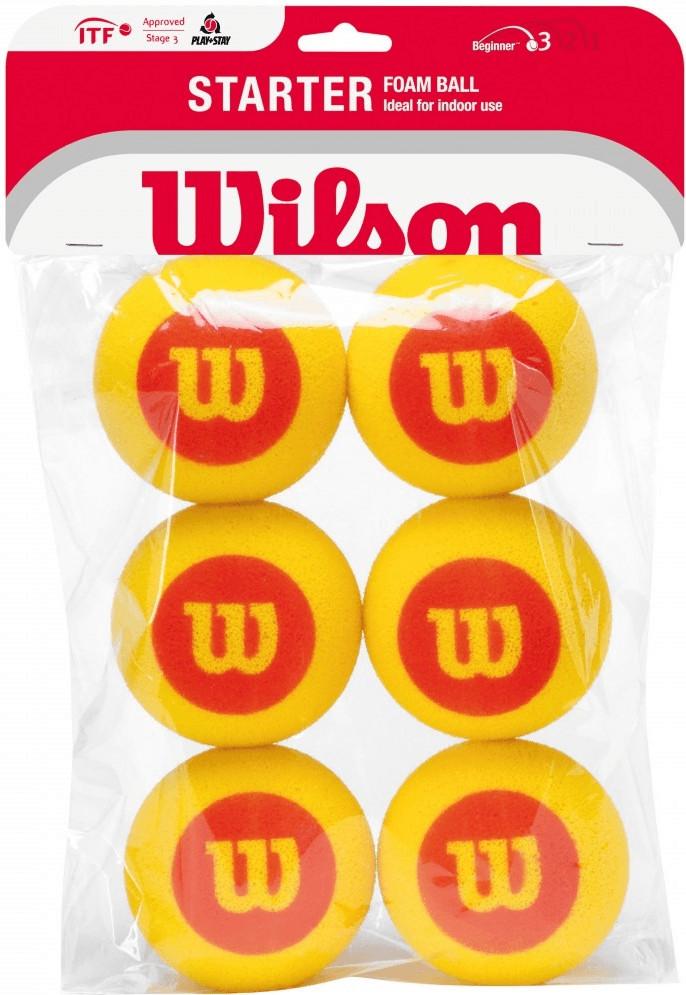 Wilson Pelotas de espuma para principiantes (6 pelotas)