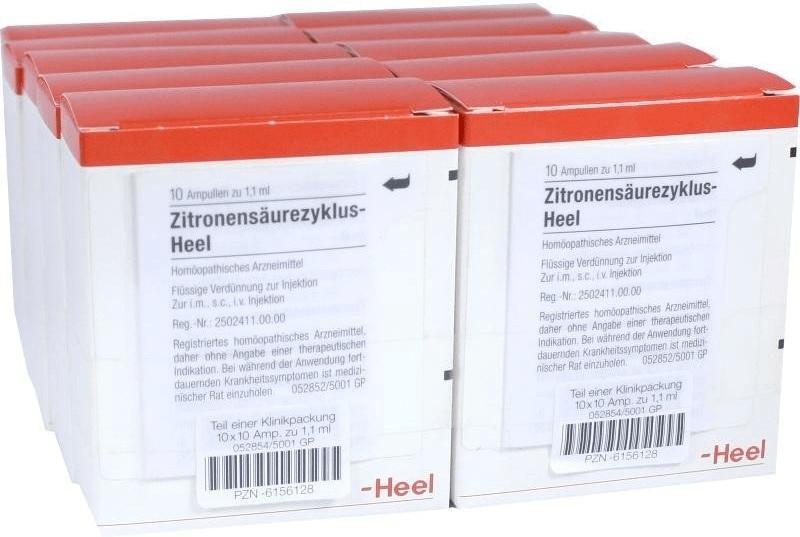 Heel Zitronensaeurezyklus Ampullen (100 Stk.)