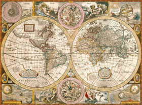 Puzzle 3000 mapa antiguo Clementoni
