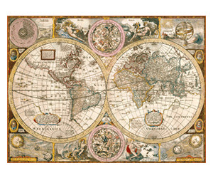 Clementoni Antique World Map (3000 pieces)