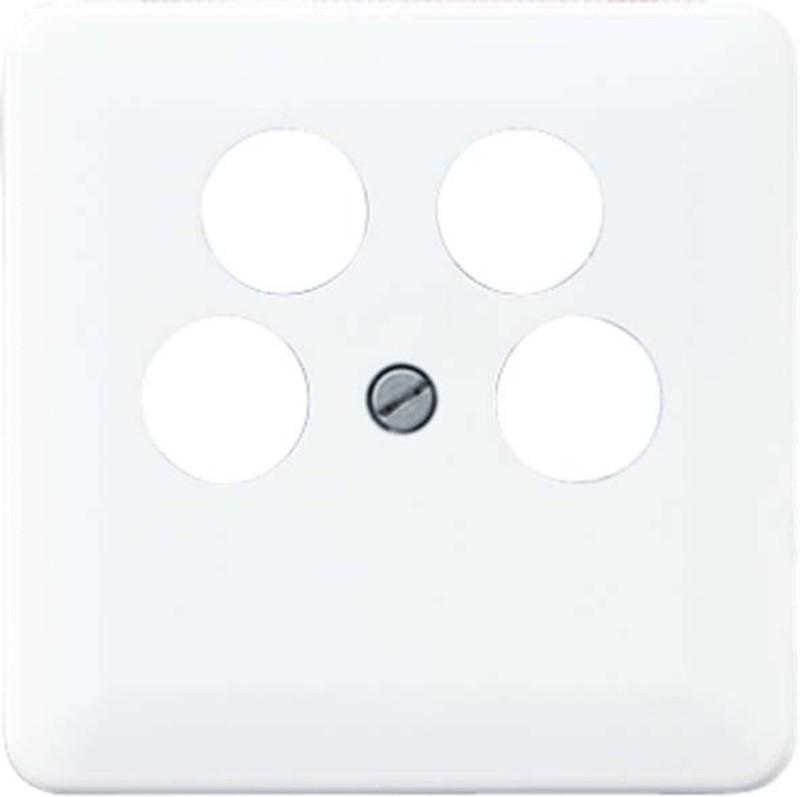 Jung Abdeckung für 4-Loch SAT-TV-Steckdose (CD ...