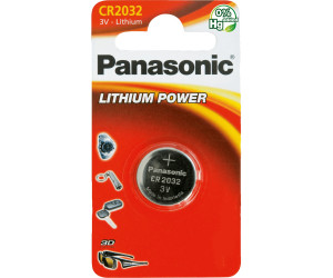 panasonic knopfzelle cr2032 lithium batterie 3v 220 mah ab. Black Bedroom Furniture Sets. Home Design Ideas