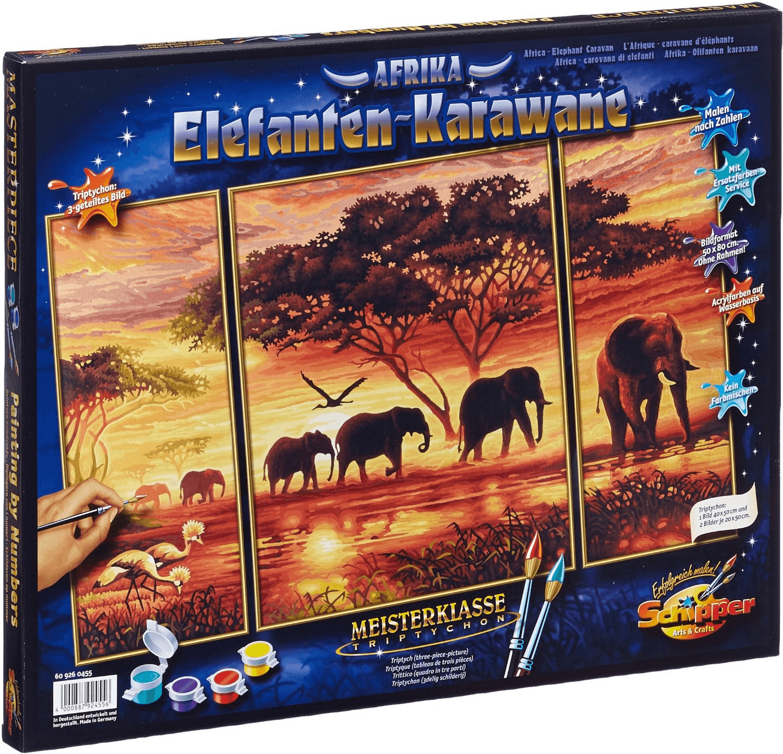 Schipper Malen nach Zahlen Elefantenkarawane