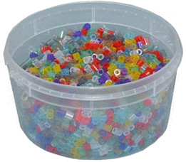 Hama Perlen 3000 Stück - transparent gemischt