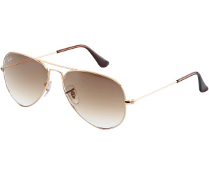 b8d27e8e50 Ray-Ban Aviator Metal RB3025 Large Metal RB3025 001/51 (arista/marron  dégradé)