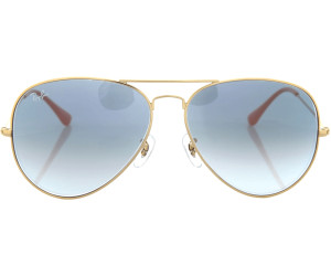 291b09352 Ray-Ban Aviator Metal RB3025 001/3F (arista/gradient light blue ...