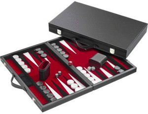 Philos-Spiele Backgammon rot medium