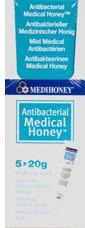 Antibakterieller Med.Honig (5 x 20 g)