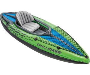 INTEX Challenger 68305 K1 Kayak singolo gonfiabile Canoa Sport acquatici Verde//Nero