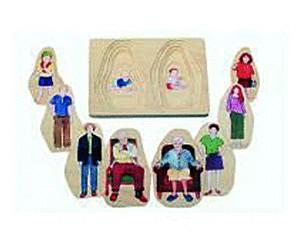 Image of beleduc 5-Layer-Puzzle Grandma & Grandpa