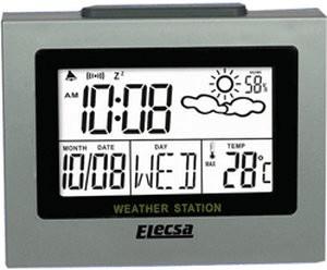 Elecsa Wetterstation Wecker Luftfeuchte Thermom...