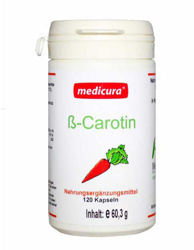 Medicura Beta Carotin Kapseln (120 Stk.)